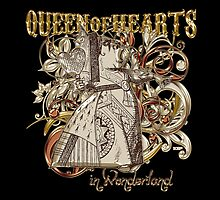 Queen of Hearts Carnivale Style - Gold Version by Sally McLean