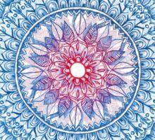 Red, Blue & White Floral Medallion Sticker