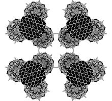 Honeycomb Mandala  Photographic Print