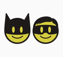 Batman & Robin Smiley Baby Tee