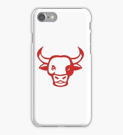 Bull Cow Head Smiling Isolated Retro iPhone Case/Skin