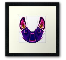 blue mouse with pink ears  Framed Print
