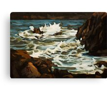 Choppy Sea Near Elberry Cove. Canvas Print