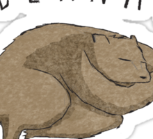 Hibernate All Year Long Sticker