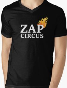 ZAP CIRCUS with Flame Mens V-Neck T-Shirt