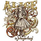 Alice In Wonderland Carnivale Style - Gold Version by Sally McLean