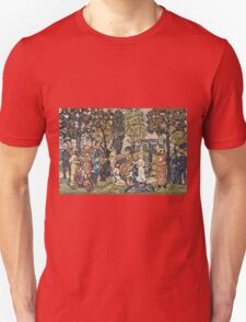 Maurice Brazil Prendergast - Autumn Festival. People portrait: party, woman and man, people, family, female and male, peasants, crowd, romance, women and men, city, home society Unisex T-Shirt