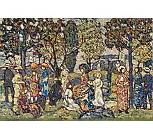 Maurice Brazil Prendergast - Autumn Festival. People portrait: party, woman and man, people, family, female and male, peasants, crowd, romance, women and men, city, home society Photographic Print