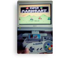 Mario Kart on Super Nintendo Canvas Print