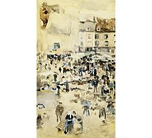 Maurice Brazil Prendergast - European Street Scene. Street landscape: city view, streets, building, houses, prospects, cityscape, architecture, roads, travel landmarks, panorama garden, buildings Photographic Print