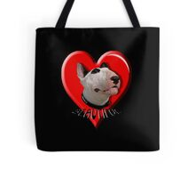 LOVE for my Bull Terrier Tote Bag