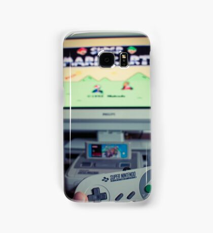 Mario Kart on Super Nintendo Samsung Galaxy Case/Skin