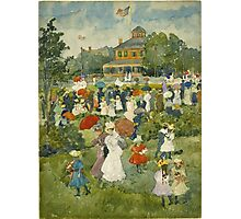 Maurice Brazil Prendergast - Franklin Park, Boston. People portrait: party, woman and man, people, family, female and male, peasants, crowd, romance, women and men, city,  Park Photographic Print