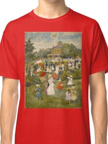 Maurice Brazil Prendergast - Franklin Park, Boston. People portrait: party, woman and man, people, family, female and male, peasants, crowd, romance, women and men, city,  Park Classic T-Shirt