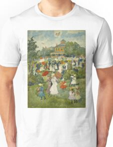 Maurice Brazil Prendergast - Franklin Park, Boston. People portrait: party, woman and man, people, family, female and male, peasants, crowd, romance, women and men, city,  Park Unisex T-Shirt