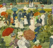 Maurice Brazil Prendergast - Franklin Park, Boston. People portrait: party, woman and man, people, family, female and male, peasants, crowd, romance, women and men, city,  Park Sticker