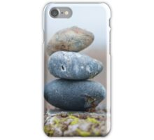 Stacked pebbles iPhone Case/Skin