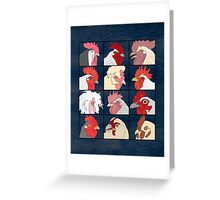 Rooster Face Greeting Card