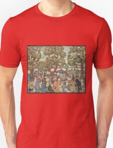 Maurice Brazil Prendergast - Landscape With Figures No. 2. People portrait: party, woman and man, people, family, female and male, peasants, crowd, romance, women and men, city, home society Unisex T-Shirt