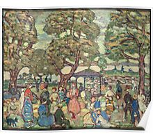 Maurice Brazil Prendergast - Landscape With Figures No. 2. People portrait: party, woman and man, people, family, female and male, peasants, crowd, romance, women and men, city, home society Poster
