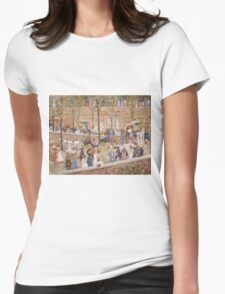Maurice Brazil Prendergast - Monte Pincio, Rome. Street landscape: city view, streets, building, houses, prospects, cityscape, architecture, roads, travel landmarks, panorama garden, buildings Womens Fitted T-Shirt