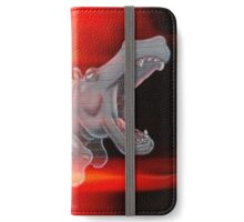Flaming Hippo iPhone Wallet/Case/Skin