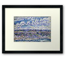 Maurice Brazil Prendergast - St. Malo. Urban landscape: city view, streets, building, house, trees, cityscape, architecture, construction, travel landmarks, panorama garden, buildings Framed Print