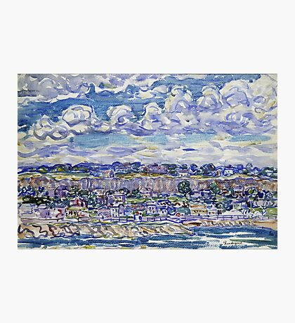 Maurice Brazil Prendergast - St. Malo. Urban landscape: city view, streets, building, house, trees, cityscape, architecture, construction, travel landmarks, panorama garden, buildings Photographic Print