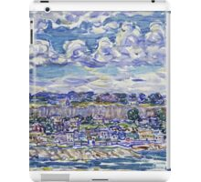 Maurice Brazil Prendergast - St. Malo. Urban landscape: city view, streets, building, house, trees, cityscape, architecture, construction, travel landmarks, panorama garden, buildings iPad Case/Skin