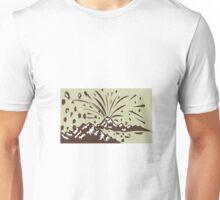 Volcano Eruption Island Woodcut Unisex T-Shirt