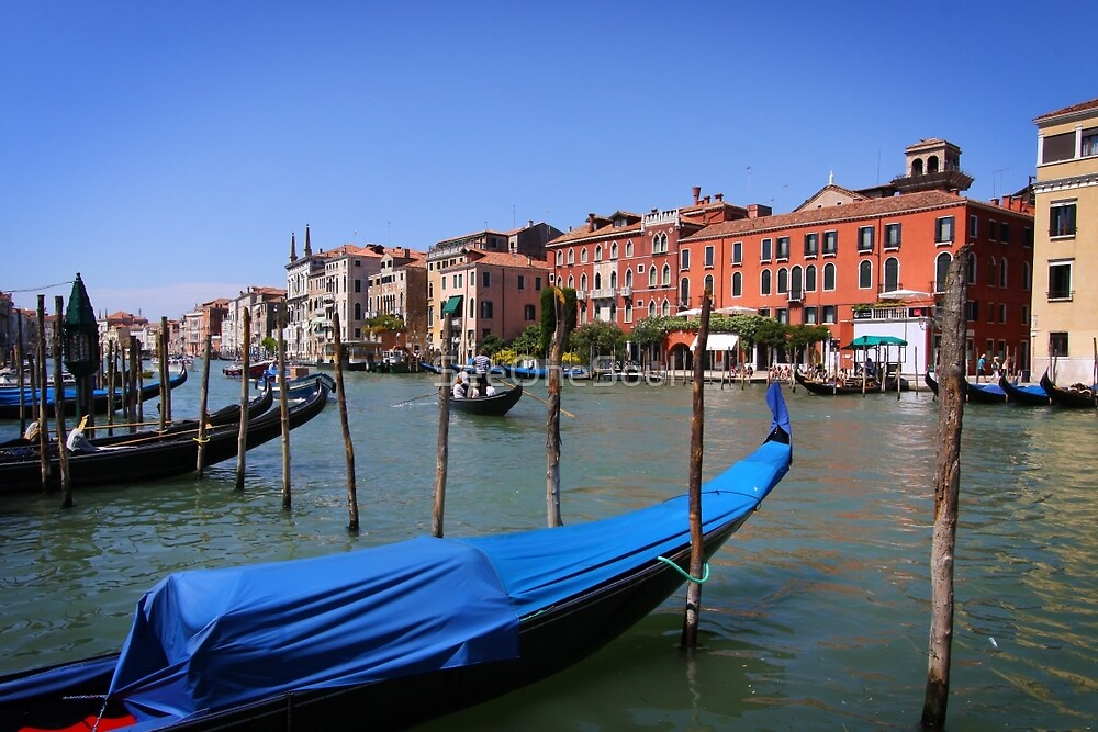 Gondolas on Gran Canal, Venice by SeeOneSoul