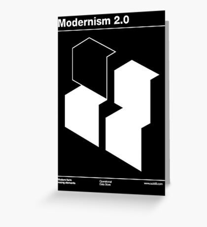 Modernism 2.0 Greeting Card