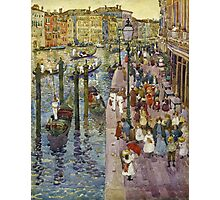 Maurice Brazil Prendergast - The Grand Canal, Venice. Urban landscape: city view, streets,  Venice, house, trees, cityscape, architecture, construction, travel landmarks, panorama garden, buildings Photographic Print