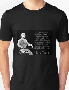 I Am Always Reading Immoral Books - Twain Unisex T-Shirt