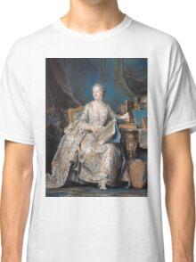 Maurice-Quentin De La Tour - Jeanne Poisson The Marquise De Pompadour. Woman portrait: sensual woman, book,  brocade, costume, courtier, beautiful dress,  lady, madame, love, marquise de pompadour Classic T-Shirt