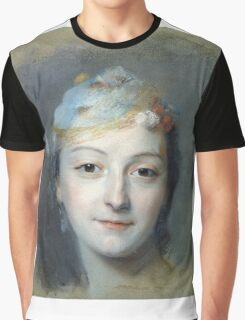 Maurice-Quentin De La Tour - Portrait Of Marie Fel. Woman portrait: sensual woman, girly art, female style, pretty women, femine, beautiful , cute,  lady, love, sexy lady, blossom Graphic T-Shirt