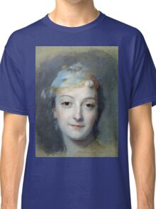 Maurice-Quentin De La Tour - Portrait Of Marie Fel. Woman portrait: sensual woman, girly art, female style, pretty women, femine, beautiful , cute,  lady, love, sexy lady, blossom Classic T-Shirt