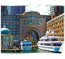 Rowes Wharf.....Boston Harbor Poster