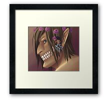 Attack on Titan: Flower Crown for the Titan Framed Print