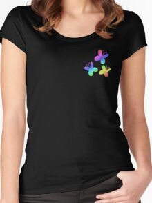 MLP - Cutie Mark Rainbow Special - Fluttershy V2 Women's Fitted Scoop T-Shirt