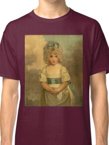 Miss Charlotte - Papendick As A Child. Child portrait: girl, curly head,  beautiful, pretty angel, child, kids, cap, dress,  bow, lovely family, childhood Classic T-Shirt