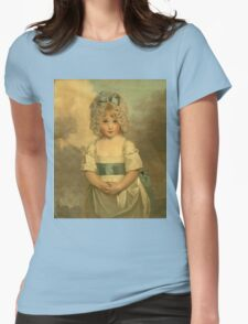 Miss Charlotte - Papendick As A Child. Child portrait: girl, curly head,  beautiful, pretty angel, child, kids, cap, dress,  bow, lovely family, childhood Womens Fitted T-Shirt