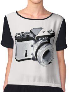 Nikon F SLR Camera Chiffon Top