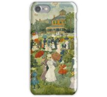 Maurice Brazil Prendergast - Franklin Park, Boston. People portrait: party, woman and man, people, family, female and male, peasants, crowd, romance, women and men, city,  Park iPhone Case/Skin