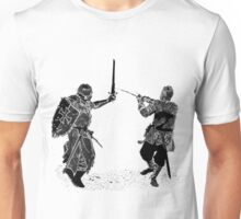 For victory wear a t-shirt: Medieval knights fight! Unisex T-Shirt
