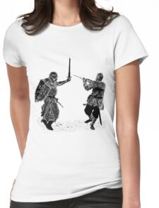 For victory wear a t-shirt: Medieval knights fight! Womens Fitted T-Shirt
