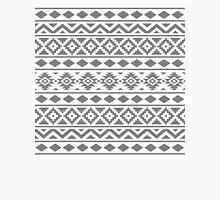 Aztec Essence Ptn III Grey on White Unisex T-Shirt