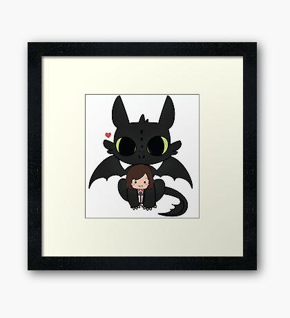 My cute Chibbi Dragon  Framed Print