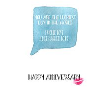 Funny Anniversary Card for Him Photographic Print