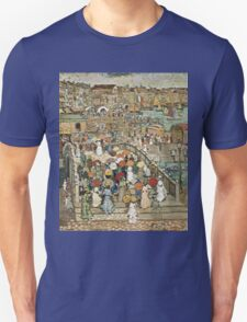 Maurice Brazil Prendergast - Ponte Della Paglia. Street landscape: city view, streets, building, houses, prospects, cityscape, architecture, roads, travel landmarks, panorama garden, buildings Unisex T-Shirt